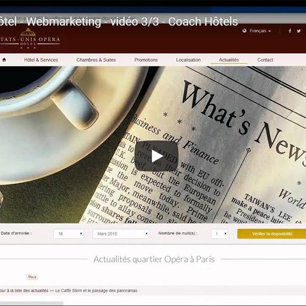 Site web hôtelier 3/3